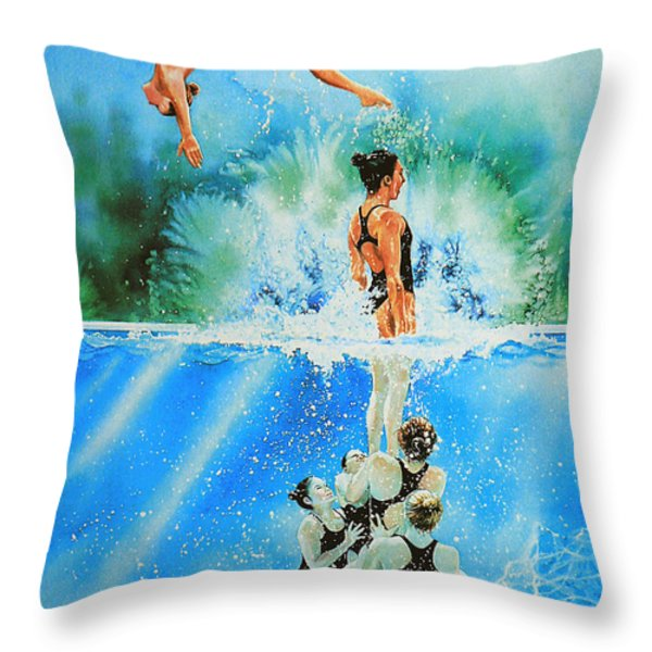In Sync Throw Pillow by Hanne Lore Koehler