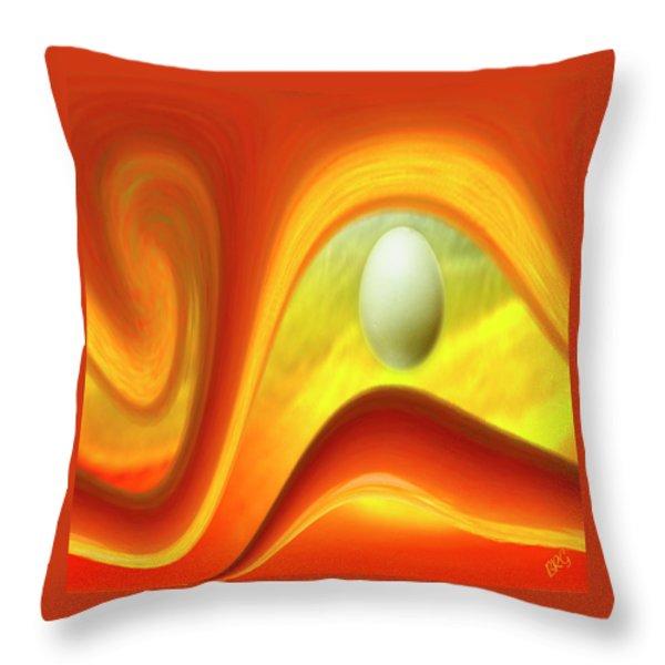 In The Beginning Throw Pillow by Ben and Raisa Gertsberg