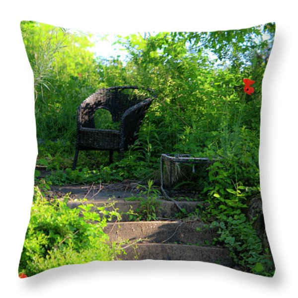 In The Garden Throw Pillow by Teresa Mucha