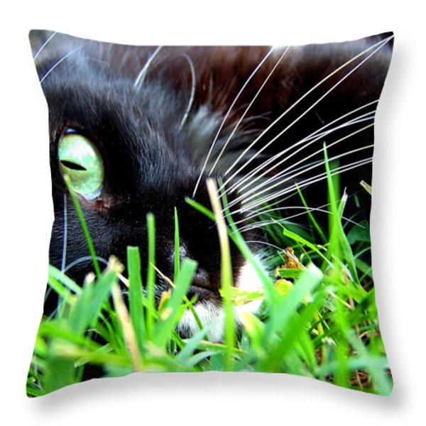 In The Grass Throw Pillow by Jai Johnson