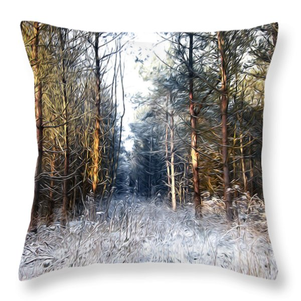 In To The Dark Throw Pillow by Svetlana Sewell