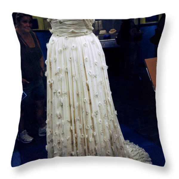 Inaugural gown on display Throw Pillow by LeeAnn McLaneGoetz McLaneGoetzStudioLLCcom