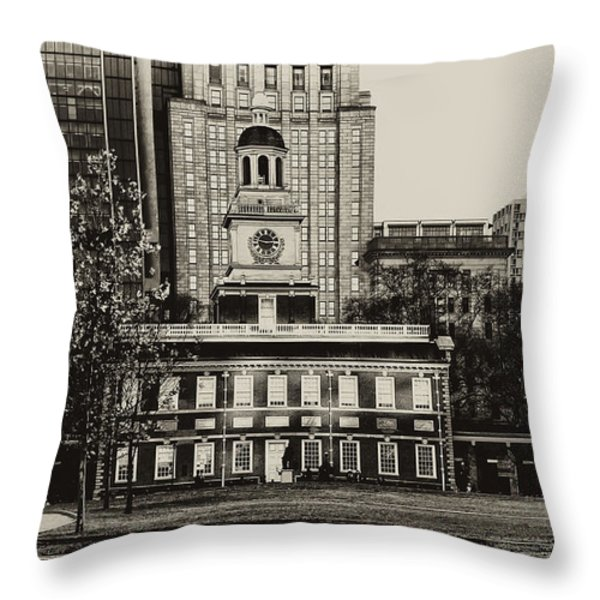 Independence Hall Throw Pillow by Bill Cannon