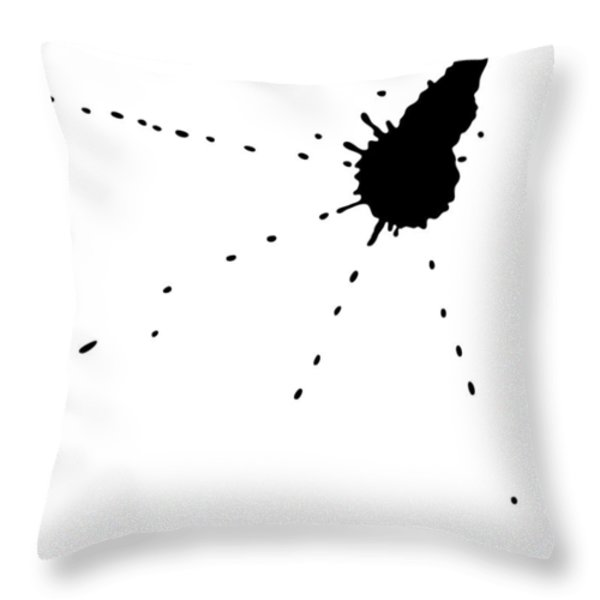 Ink Spill Throw Pillow by Frank Tschakert