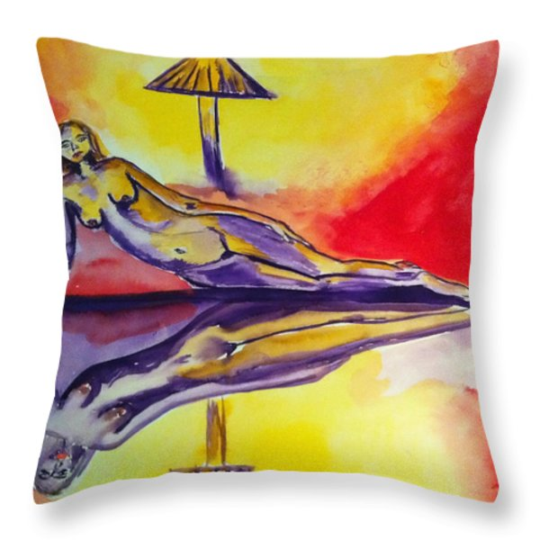 Inner Reflections Throw Pillow by Donna Blackhall