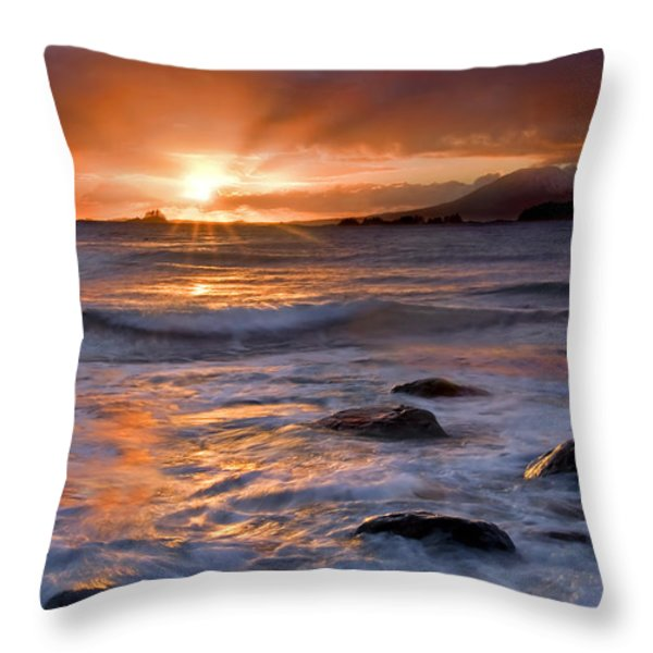 Inspired Light Throw Pillow by Mike  Dawson