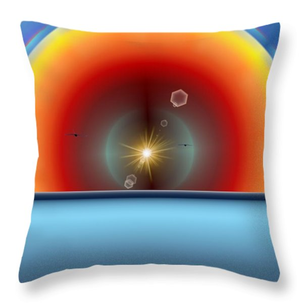 Into The Eye Of The Sunset Throw Pillow by Tim Allen
