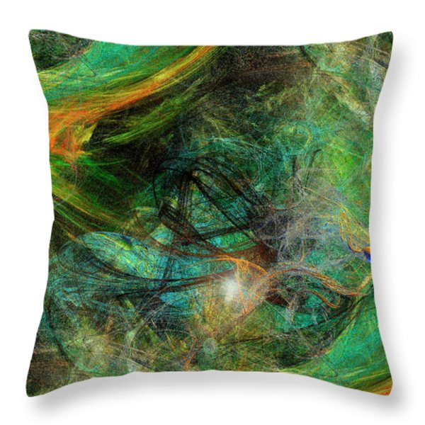 Intricate Love Throw Pillow by Michael Durst