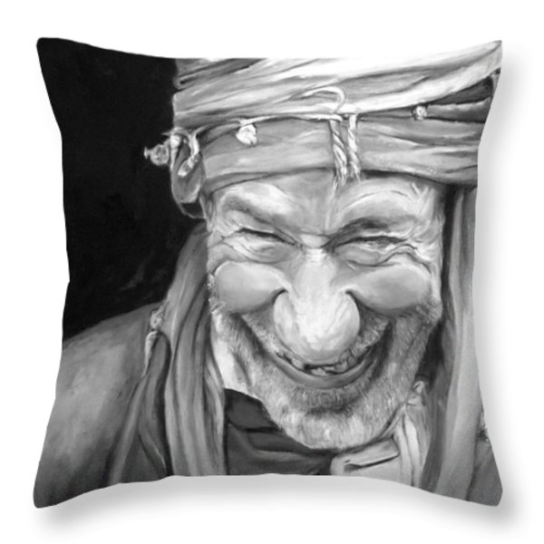 Iranian Man Throw Pillow by Enzie Shahmiri
