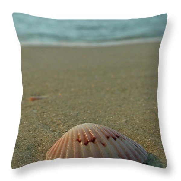 Iridescent Seashell Throw Pillow by Juergen Roth
