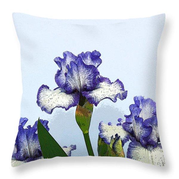 Iris 15 Throw Pillow by Allen Beatty