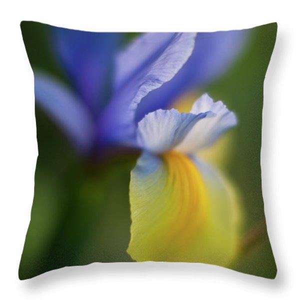Iris Grace Throw Pillow by Mike Reid