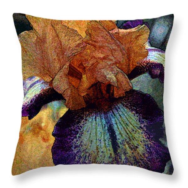 Iris Intimacy Throw Pillow by Angelina Vick