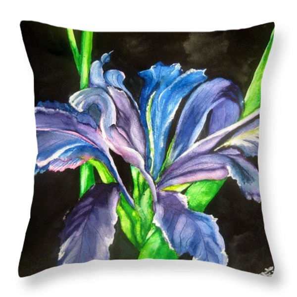 Iris Throw Pillow by Lil Taylor