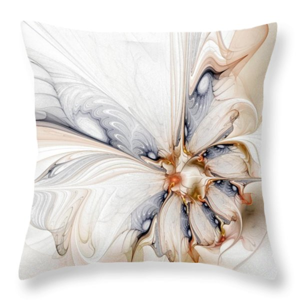 Iris Throw Pillow by Amanda Moore