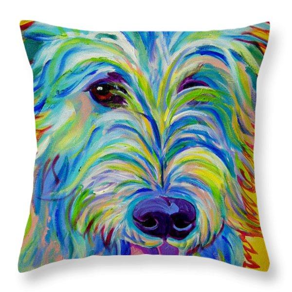 Irish Wolfhound - Angus Throw Pillow by Alicia VanNoy Call