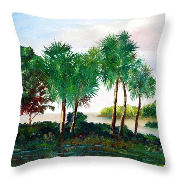 Isle of Palms Throw Pillow by Phil Burton