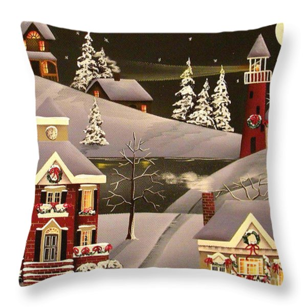 It Came Upon a Midnight Clear Throw Pillow by Catherine Holman