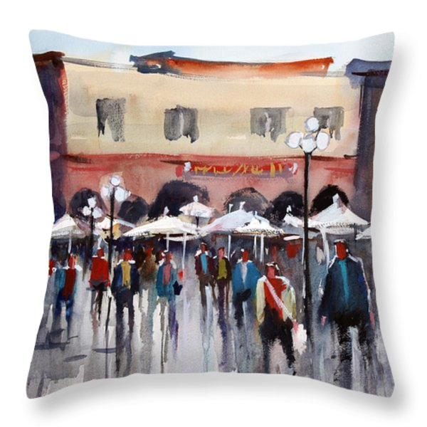 Italian Marketplace Throw Pillow by Ryan Radke