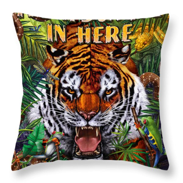 It's A Jungle  Throw Pillow by JQ Licensing