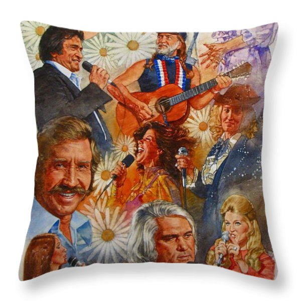Its Country 1 Throw Pillow by Cliff Spohn