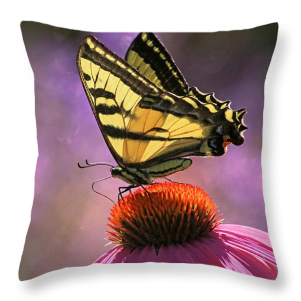 It's Lonely At The Top Throw Pillow by Donna Kennedy