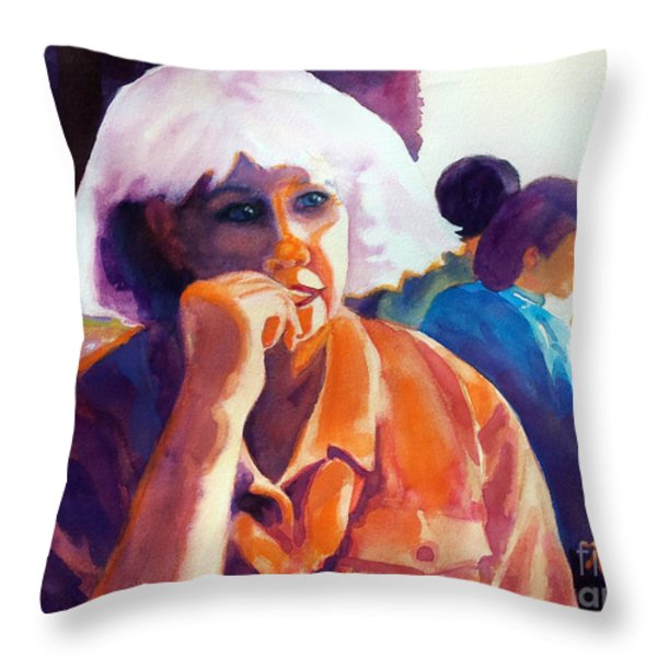 I've Got a Secret Throw Pillow by Kathy Braud