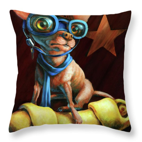 I've Got Mine Throw Pillow by Vanessa Bates