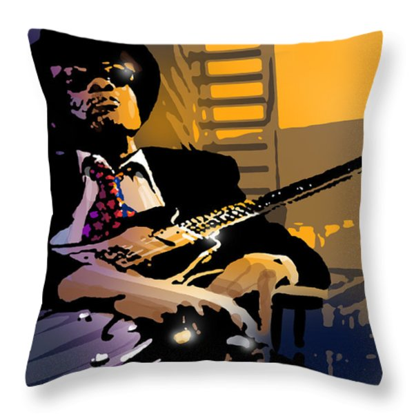 J L Hooker Throw Pillow by Paul Sachtleben