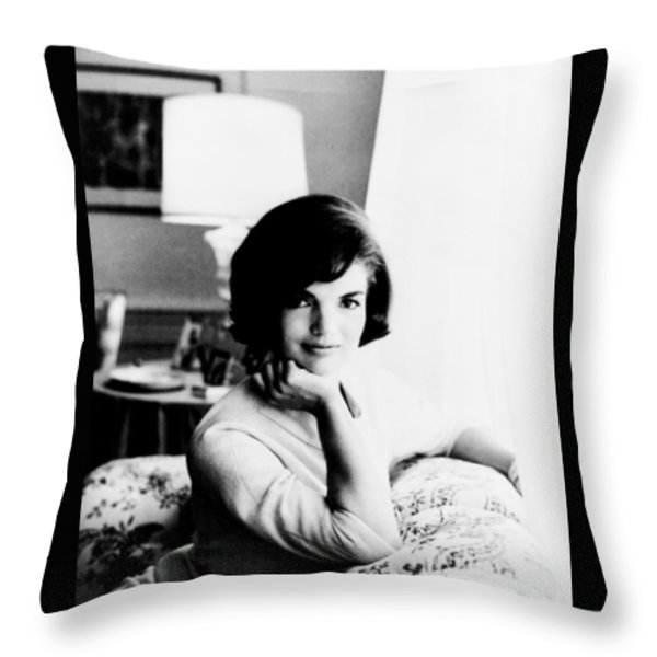 Jacqueline Throw Pillow by Benjamin Yeager