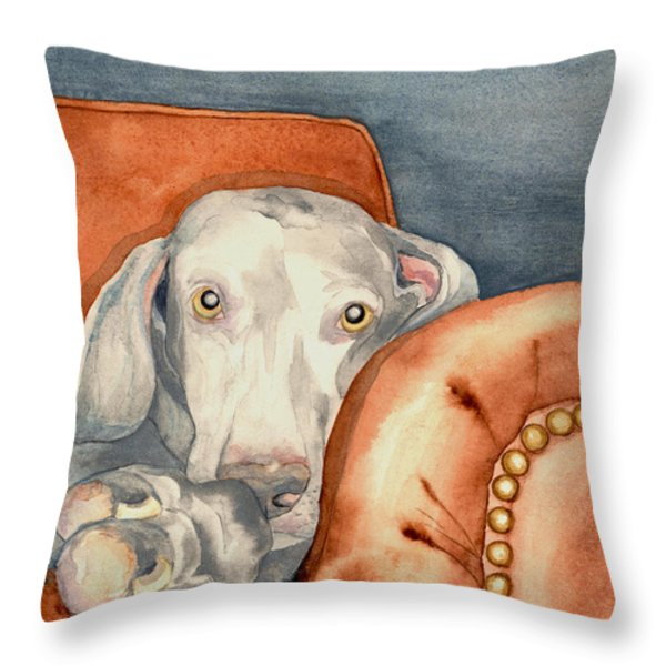 Jade Throw Pillow by Brazen Edwards