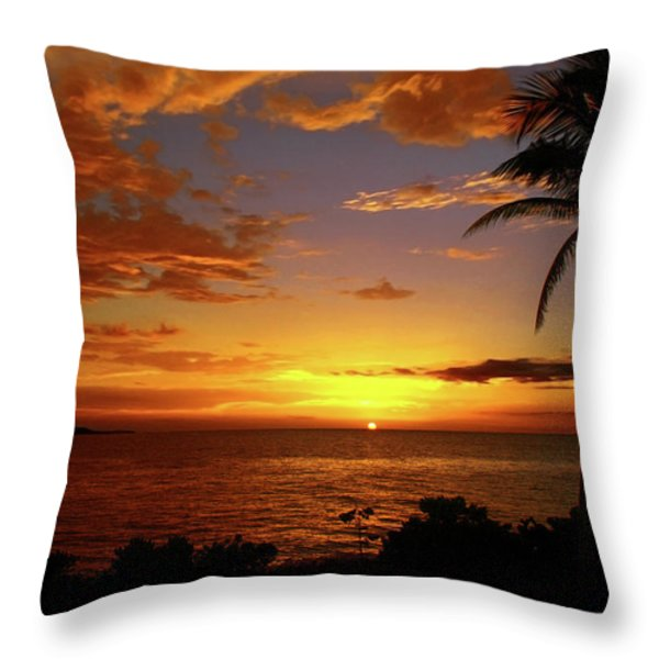 Jamaica's Warm Breeze Throw Pillow by Kamil Swiatek
