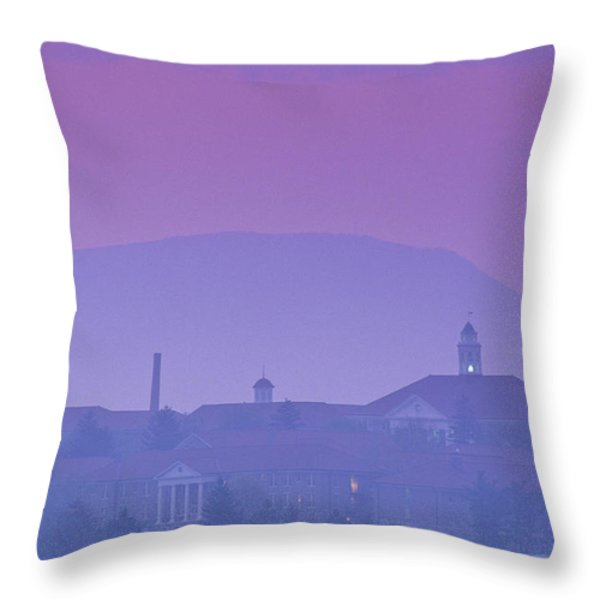 James Madison University At Dusk Throw Pillow by Kenneth Garrett
