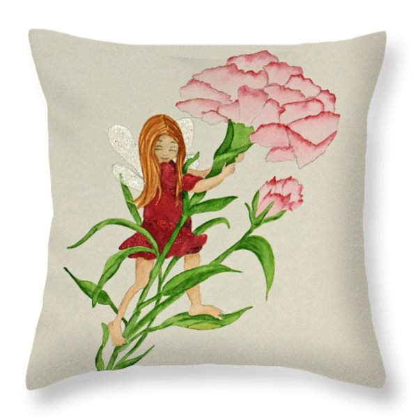 January Throw Pillow by Terri Mills