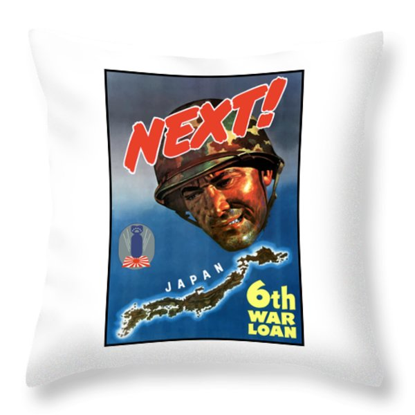 Japan Next World War 2 Poster Throw Pillow by War Is Hell Store