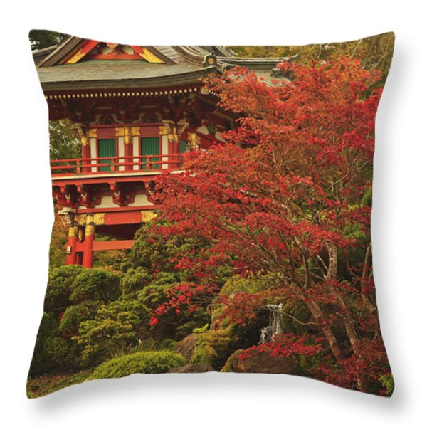 Japanese Tea Garden In Golden Gate Park Throw Pillow by Stuart Westmorland