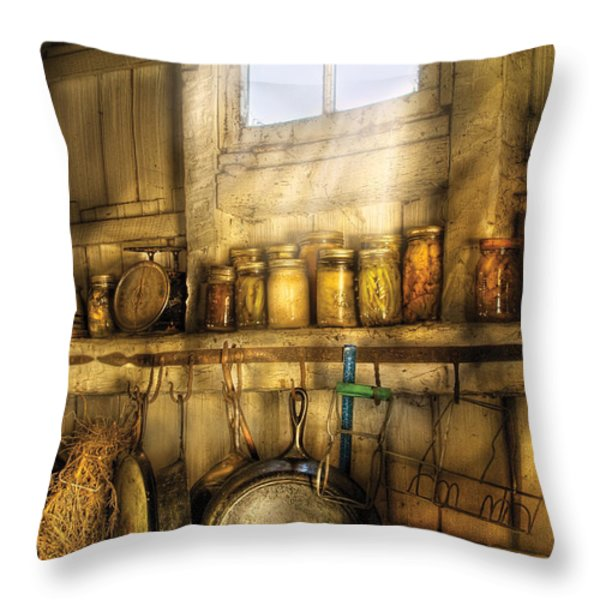 Jars - Winter Preserves  Throw Pillow by Mike Savad