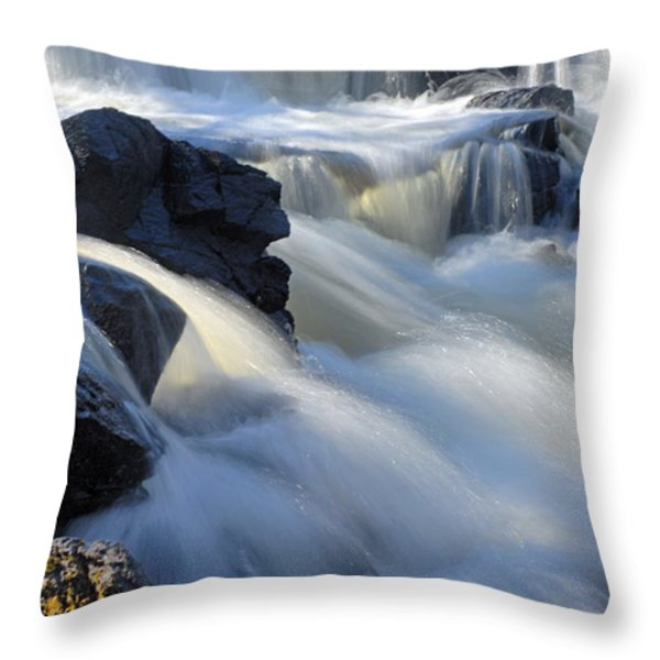 Jasper Falls Closeup Throw Pillow by Larry Ricker