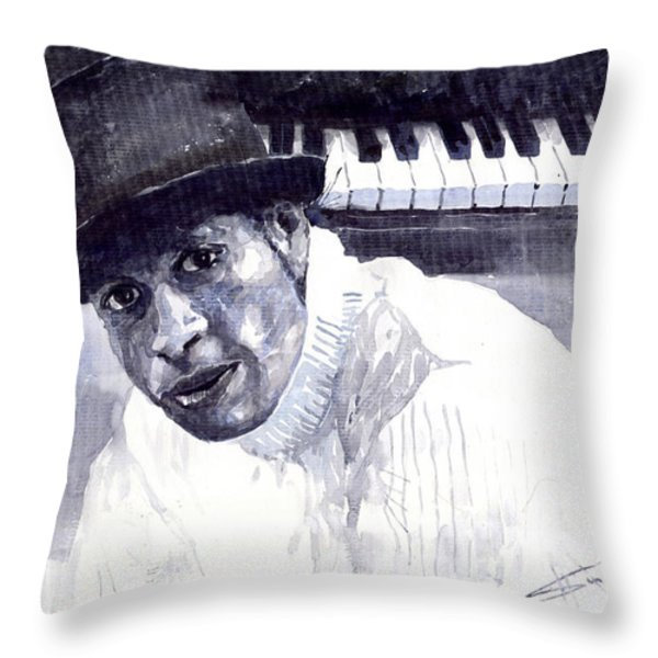 Jazz Roberto Fonseca Throw Pillow by Yuriy  Shevchuk