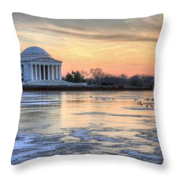 Jefferson Throw Pillow by JC Findley