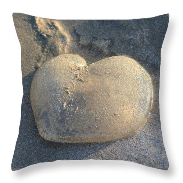 Jellyfish With a Big Heart Throw Pillow by Shane Bechler