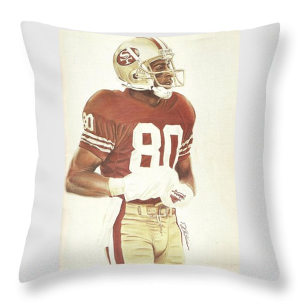 Jerry Throw Pillow by Darren  Chilton