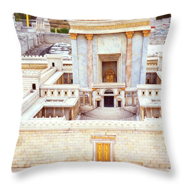 Jerusalem 70 Ad Throw Pillow by Thomas R Fletcher