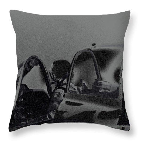 Jet Pilots Throw Pillow by Karol  Livote