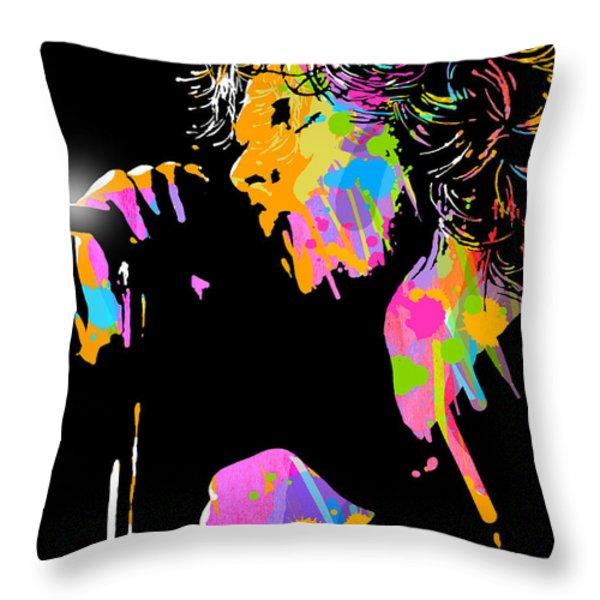 Jim Morrison Throw Pillow by Paul Sachtleben