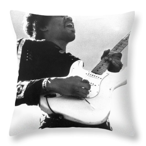 Jimi Hendrix (1942-1970) Throw Pillow by Granger
