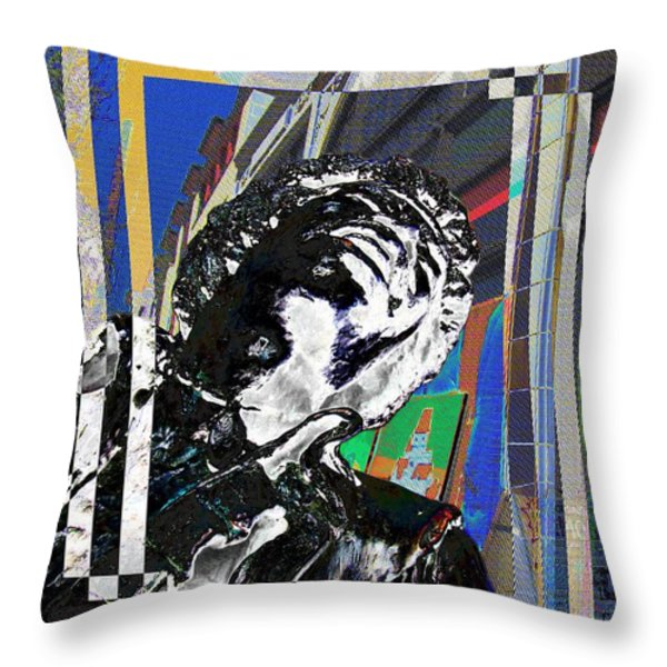 Jimi Hendrix 3 Throw Pillow by Tim Allen