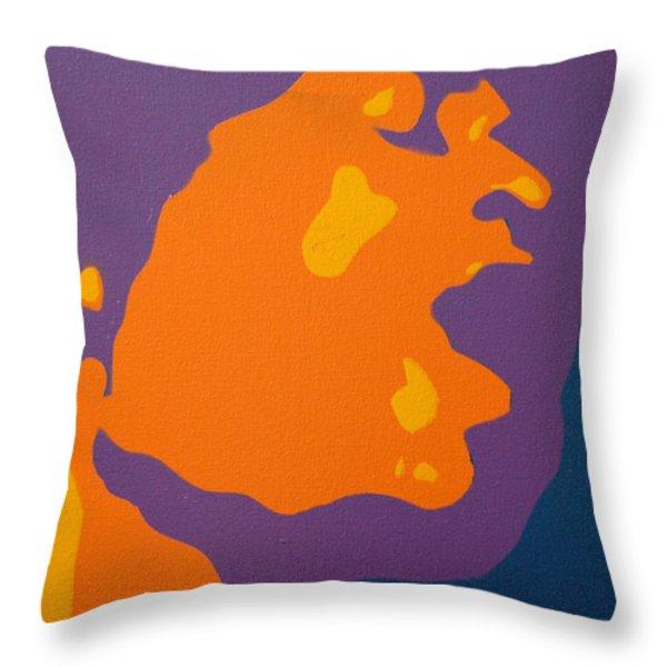 Jimi Hendrix Throw Pillow by Michael Ringwalt