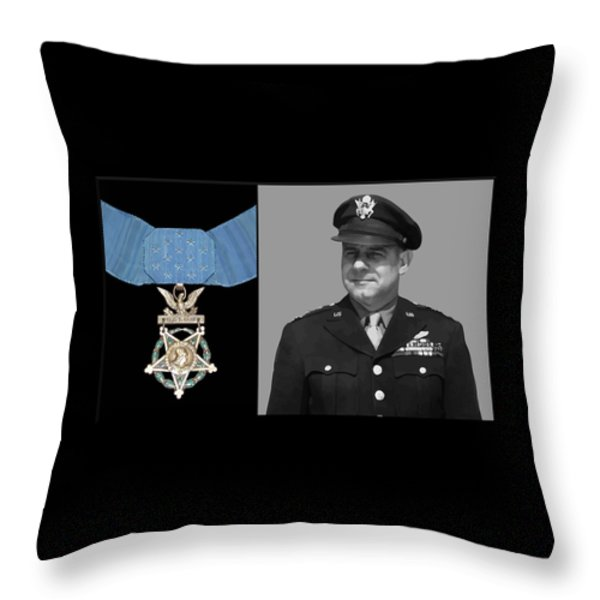 Jimmy Doolittle and The Medal of Honor Throw Pillow by War Is Hell Store