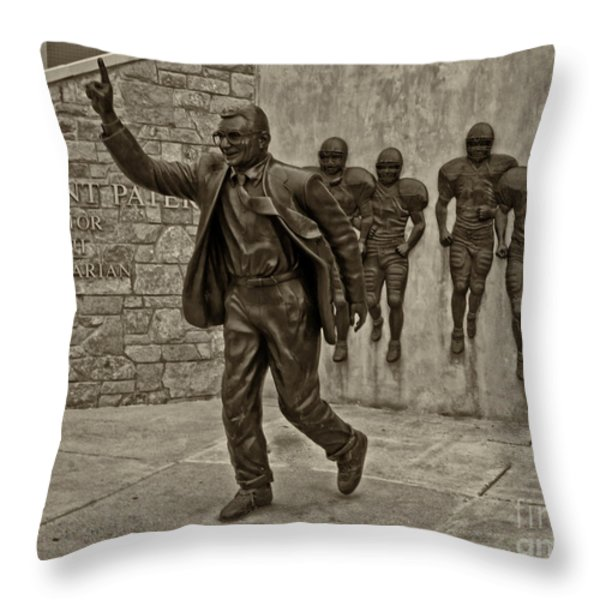 Joe Paterno Throw Pillow by Jack Paolini